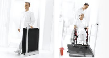 Seca 676 EMR Ready Wheelchair Scale Example