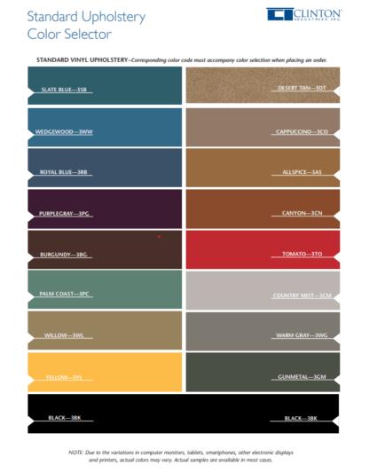 Clinton Color Chart